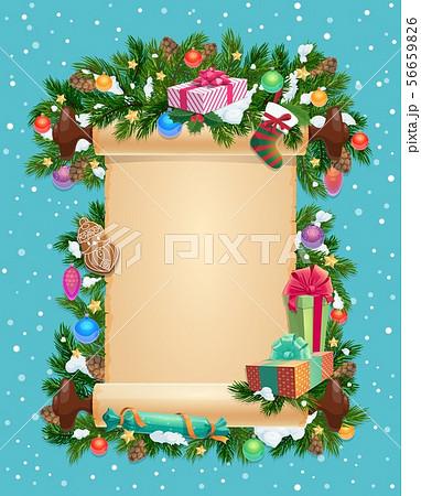 Winter holiday Christmas card, blank ingot 56659826