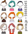 9種類の匿名の女性の上半身2 56663045
