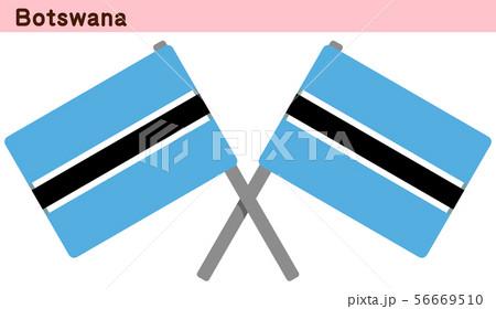交差したボツワナの国旗 56669510