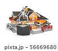3d Illustration of House, Security, 56669680