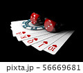 3d Illustration of big bet for playing cards  56669681