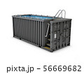 Converted old shipping container into swimming 56669682