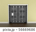 3d Illustration of Shipping Container Door 56669686