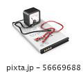 3d Illustration of mobile phone battery 56669688