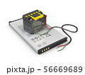 3d Illustration of mobile phone battery  56669689