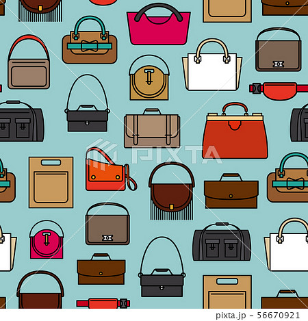 Bags and purses pattern 56670921