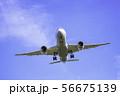 着陸する飛行機  ボーイング787 56675139