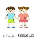 人物 子供 こども 子ども 少年 少女 男の子 女の子 男女 デフォルメ 可愛い かわいい POP 56686183