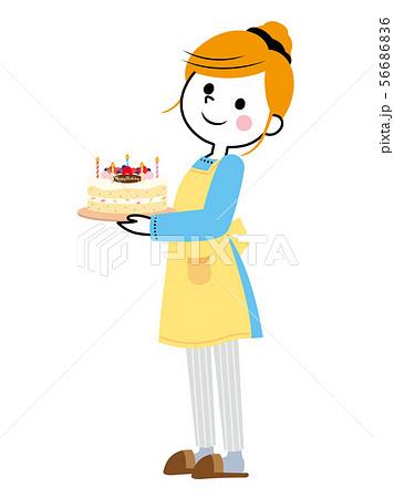 主婦① バースデーケーキ 56686836