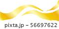 ラインウェーブ 風 毛筆 手書き 和風素材 イラスト 56697622
