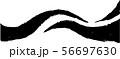 ラインウェーブ 風 毛筆 手書き 和風素材 イラスト 56697630
