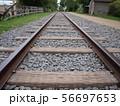 線路,まっすぐな道,一本道,迷わない 56697653