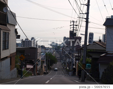 小樽,船見坂,急な坂道,坂の町 56697655