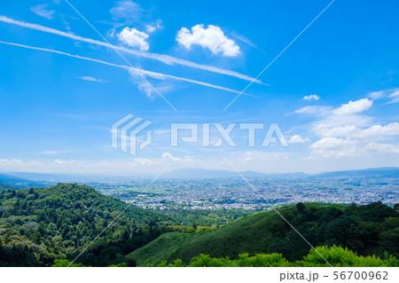 若草山山頂からの眺め 奈良県奈良市 市街地 2019年8月 夏 56700962