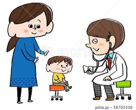 病院 子供 診察中 56703336