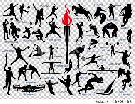 オリンピック競技シルエット 56706262