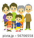 家族 二世帯 集合 56706558