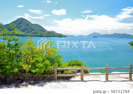 大久野島から眺める瀬戸内海 56711704