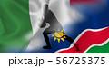 イタリア ナミビア ラグビー  国旗  56725375