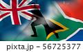 ニュージーランド 南アフリカ ラグビー  国旗  56725377