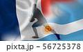 フランス アルゼンチン ラグビー  国旗  56725378