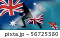 オーストラリア フィジー ラグビー  国旗  56725380