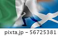 アイルランド スコットランド ラグビー  国旗  56725381