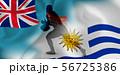 フィジー ウルグアイ ラグビー  国旗   56725386