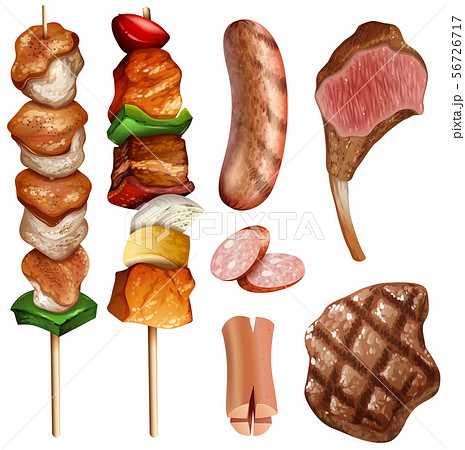 Different types of bbq and steaks 56726717