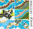Set of aerial view scenes 56727606