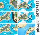 Set of aerial view scenes 56727632