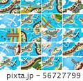 Set of aerial view scenes 56727799