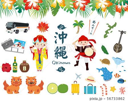 かわいい沖縄のイラスト素材集 56733862
