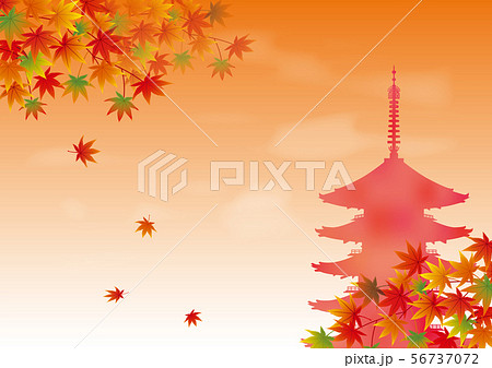 紅葉と五重の塔 56737072