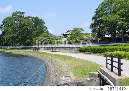 萩河川敷公園の散歩道と武家屋敷 56741410