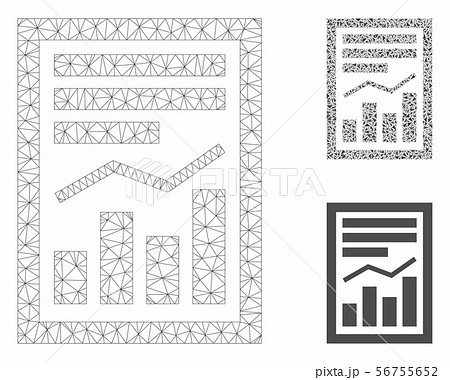 Chart Report Page Vector Mesh Network Model and Triangle Mosaic Icon 56755652