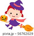 ハロウィン 魔女 かぼちゃ 56762029