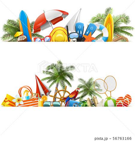 Vector Beach Borders 56763166