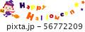 ハロウィン 文字 魔女 かぼちゃ 56772209