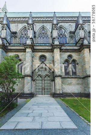 Details of  Nidaros Cathedral or Nidarosdome. 56778065