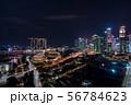 シンガポールの都市風景 夜景 56784623