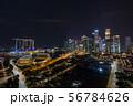 シンガポールの都市風景 夜景 56784626
