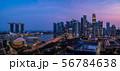 シンガポールの都市風景 夜景 56784638