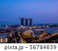 シンガポールの都市風景 ブルーモーメント 56784639