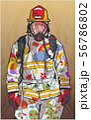 Firefighter illustration poster print shirt design 56786802
