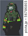 Firefighter illustration poster print shirt design 56786803