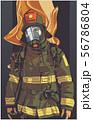 Firefighter illustration poster print shirt design 56786804