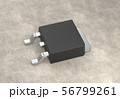 DPAK mosfet electronic transistor on surface 3d illustration 56799261