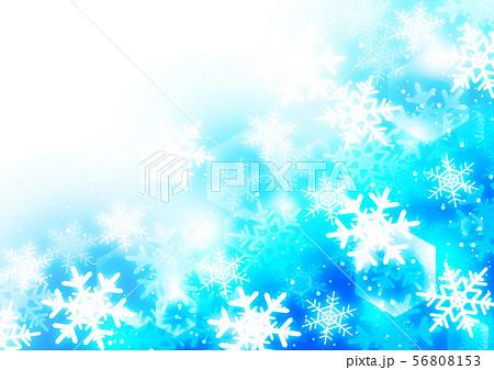 雪の結晶 背景 ブルー 56808153