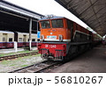 ヤンゴン中央駅の機関車 ミャンマー 東南アジア 56810267
